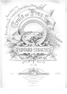 Gruss an Prag for Piano, Op.144: Gruss an Prag for Piano by Eduard Strauss