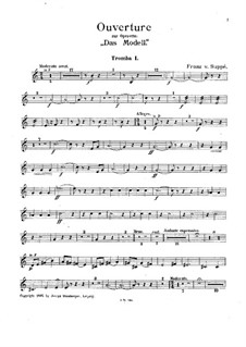 Overture to 'The Model': trompeta parte I by Franz von Suppé