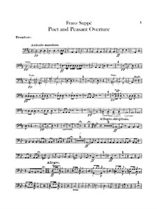 Overture to 'Poet and Peasant': parte trombone by Franz von Suppé