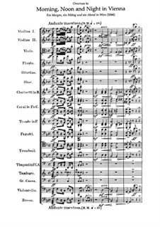 Overture to 'Morning, Noon, and Night in Vienna': partitura by Franz von Suppé