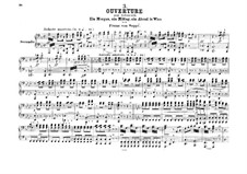Overture to 'Morning, Noon, and Night in Vienna': para piano de quadro mãos by Franz von Suppé