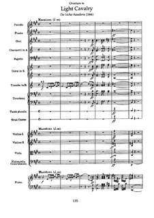 Overture to 'Light Cavalry': partitura by Franz von Suppé