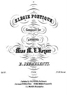 Élégie poétique, Op.20: Élégie poétique by Ernest Szemelényi