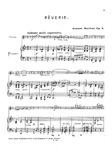 Rêverie for Violin and Piano, Op.5: Rêverie for Violin and Piano by Gustave Szerémi