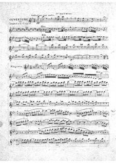 Le concert à la cour: Oboe parte I by Daniel Auber