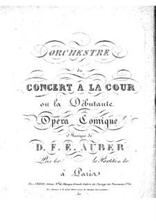 Le concert à la cour: violino parte I by Daniel Auber