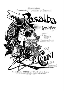 Rosalba. Waltz for Piano (or Harmonium), Op.5: Rosalba. Waltz for Piano (or Harmonium) by Pietro Codini