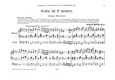 Suite in F Minor for Organ. Movement I, Op.14: Suite in F Minor for Organ. Movement I by William Ralph Driffill