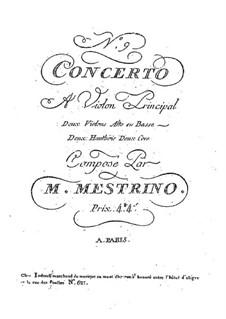 Violin Concerto No.9 in E Flat Major: Violins and viola parts by Niccolò Mestrino