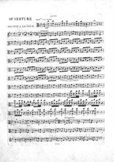 Le concert à la cour: parte viola by Daniel Auber
