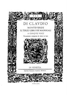 Book 3 (a cinque voci), SV 60–74: Partitura vocal by Claudio Monteverdi
