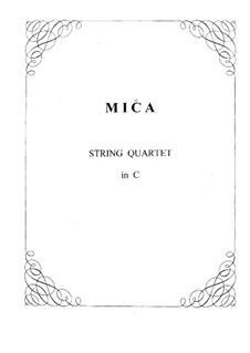 String Quartet No.2 in C Major: partes by František Adam Míča