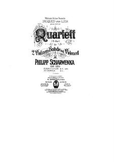 String Quartet No.2 in D Major, Op.120: Partes by Philipp Scharwenka