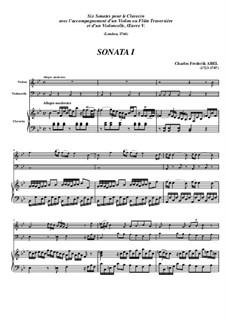 Trio Sonata No.1, WK 117: Movimento I - Partitura completa by Carl Friedrich Abel