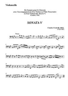Trio Sonata No.5, WK 121: Movimento I - parte em Violoncelo by Carl Friedrich Abel