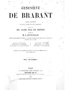 Geneviève de Brabant: Acto I - partitura piano-vocal by Jacques Offenbach
