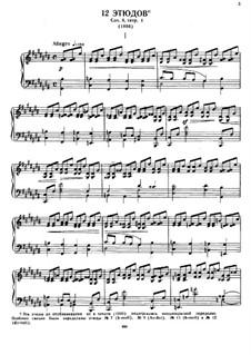Twelve Etudes, Op.8: set completo by Alexander Scriabin