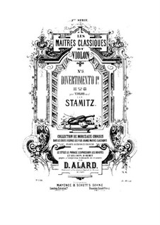Two Divertissements for Violin: Two Divertissements for Violin by Carl Stamitz