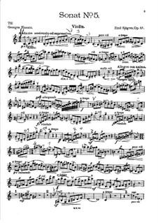 Sonata for Violin and Piano No.5, Op.61: Parte de solo by Emil Sjögren