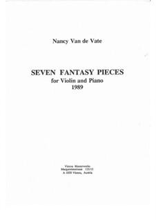Seven Fantasy Pieces for Violin and Piano: Seven Fantasy Pieces for Violin and Piano by Nancy Van de Vate