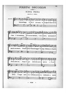 Arianna: Act II, scenes 1-7 – piano-vocal score by Benedetto Marcello