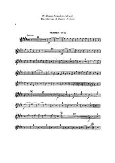 Overture: parte trompetas by Wolfgang Amadeus Mozart