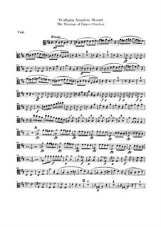 Overture: parte viola by Wolfgang Amadeus Mozart