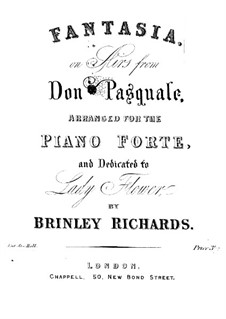 Fantasia on Aria from 'Don Pasquale' by G. Donizetti: Fantasia on Aria from 'Don Pasquale' by G. Donizetti by Brinley Richards