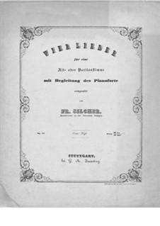 Four Songs, Op.42: quatro musicas by Friedrich Silcher