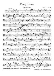 Preghiera, Op.35: parte violoncelo by Johannes Snoer