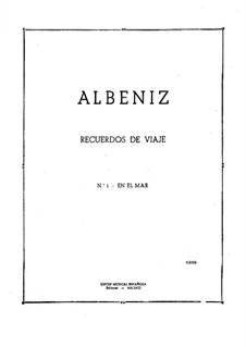 Recuerdos de viaje: No.1 En el mar by Isaac Albéniz