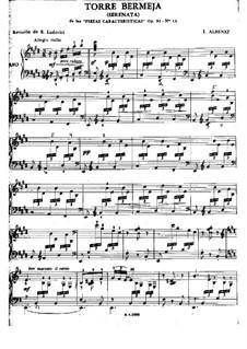 Doce piezas características, Op.92: No.12 Torre Bermeja, for guitar by Isaac Albéniz