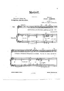 Six Balladas: No.5 Morirò by Isaac Albéniz