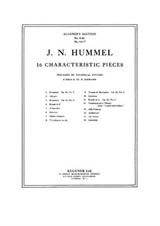 Technical Studies for Sixteen Character Pieces by J. Hummel: Technical Studies for Sixteen Character Pieces by J. Hummel by Hugo Riemann