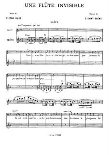 Une flûte invisible: Une flûte invisible by Camille Saint-Saëns