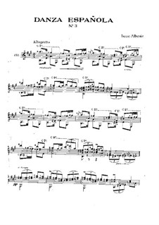 Six Spanish Dances, Op.37: Dance No.3, for guitar by Isaac Albéniz