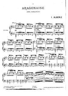 Two Spanish Dance, Op.164: No.1 Aragón by Isaac Albéniz