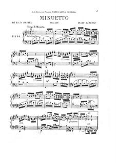 Piano Sonata No.7, Op.111: minueto by Isaac Albéniz