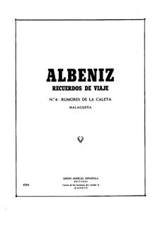Recuerdos de viaje: No.6-7 by Isaac Albéniz