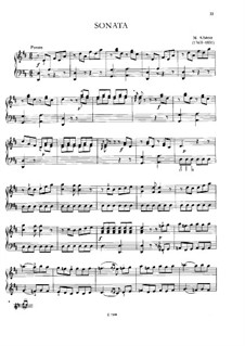 Sonata in D Major 'Zapateado': Para Piano by Mateo Albéniz