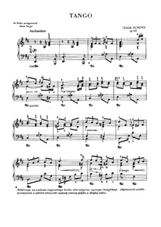 No.2 Tango: Para Piano by Isaac Albéniz