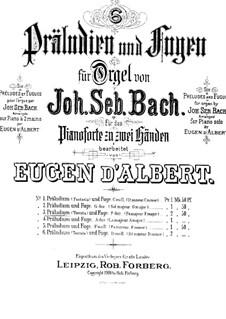 Toccata and Fugue in F Major, BWV 540: arranjo para piano by Johann Sebastian Bach