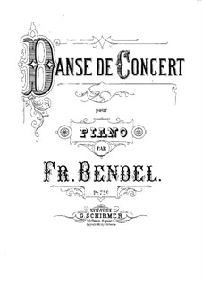 Danse de concert: Danse de concert by Franz Bendel