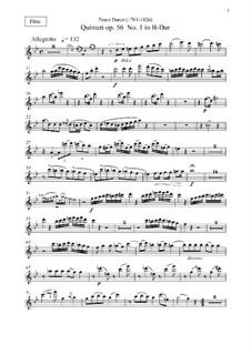 Nine Woodwind Quintets, Op.56, 67, 68: parte flauta by Franz Ignaz Danzi