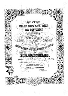 Four Concert Etudes for Piano, Op.111: Four Concert Etudes for Piano by Ignaz Moscheles