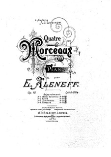Four Pieces for Piano, Op.10: No.1 Petites variations by Eugen Fedorovich Alenev