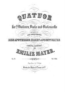 String Quartet, Op.14: partes by Emilie Mayer