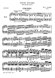 Douze études dans tous les tons mineurs (Twelve Etudes in All the Minor Keys), Op.39: Book II (No.8-12) by Charles-Valentin Alkan