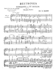 Concerto for Piano and Orchestra No.3, Op.37: movimento I, para piano by Ludwig van Beethoven