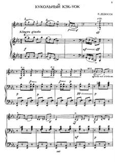 No.6 Golliwogg's Cakewalk: para violino by Claude Debussy